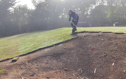 Avance de los trabajos en la cancha de golf
